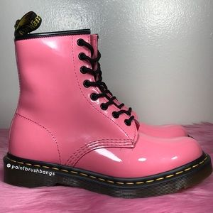 Dr. Martens Acid Pink 1460W Patent Leather Boots